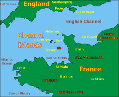 Channel Islands Map - Click here to enlarge